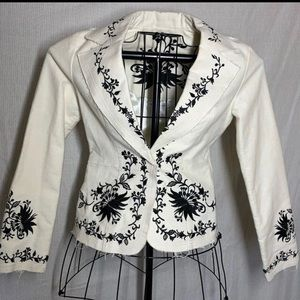 White House Black Market embroidered jacket blazer